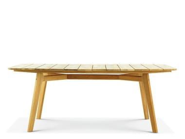 Rectangular teak garden table KNIT | Rectangular table