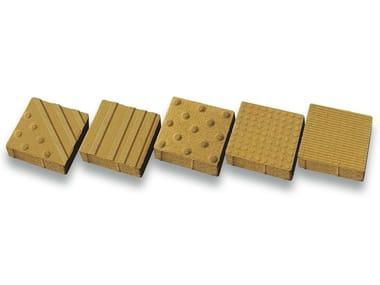 Pavimentación táctil de hormigón TRIX
