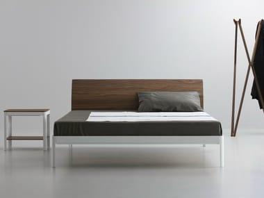 Lit double en aluminium et bois PLANE | Lit double