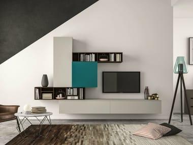 Sectional storage wall SLIM 101