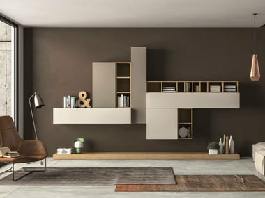 Sectional storage wall SLIM 104