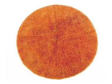 Attractive Orange Round Rug Rugs Ideas