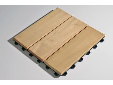 Tarima de exterior de madera Larideck® Mono
