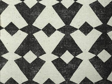 Tessuto in seta con motivi grafici per tende TANGRAM
