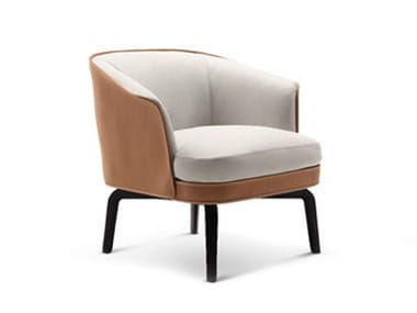 Leather armchair NIVOLA | Armchair