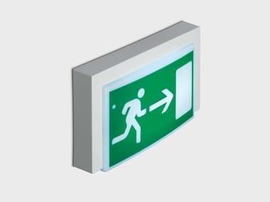 Ceiling-mounted emergency light for signage MOTUS | Emergency light