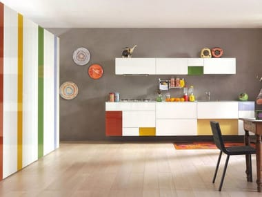 Lacquered linear fitted kitchen 36E8 | Linear kitchen