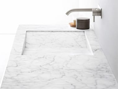 Carrara marble washbasin countertop ESPERANTO | Washbasin countertop