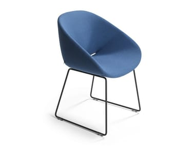 Sled base upholstered chair BESO | Sled base chair