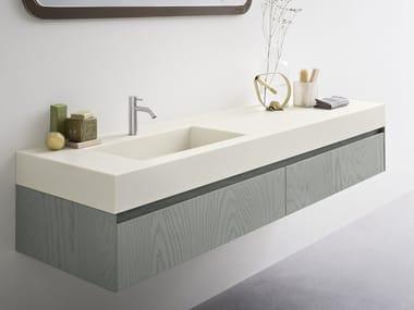 moode   piano lavabo in corian® by rexa design - Lavabo Bagno In Corian Prezzi