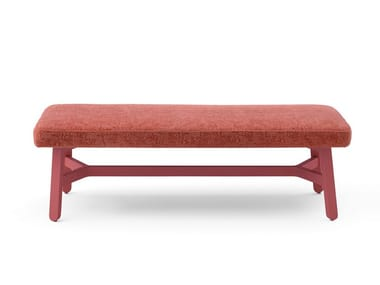 Upholstered fabric bench CROISSANT | Upholstered bench
