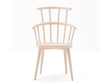 High-back beech chair W. | High-back chair