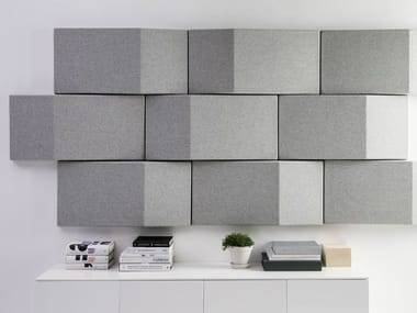 Fabric decorative acoustical panels TRILINE WALL