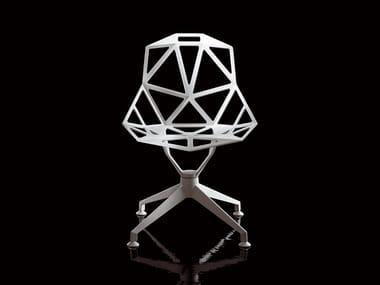 Trestle-based die cast aluminium chair CHAIR_ONE_4STAR