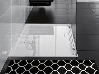 Flush fitting Quaryl® shower tray SQUARO SUPER FLAT