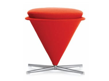 Swivel upholstered stool CONE STOOL