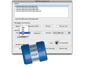 Viewer e convertitore file dwg dxf CAD File Converter