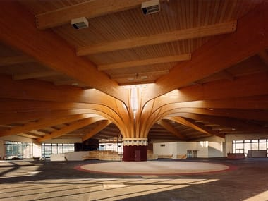 Integrated structural system in timber Laminated wood structure
