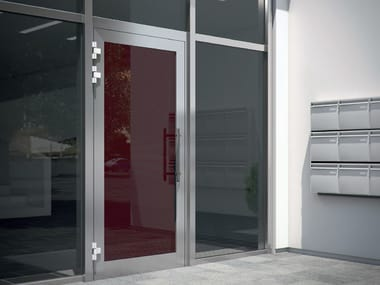 Energy-saving glass entry door Schüco ADS
