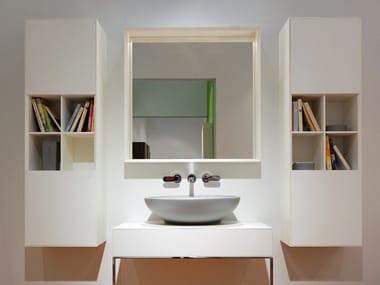 Mobile bagno alto sospeso in legno con ante COMPONO SYSTEM | Mobile bagno con ante