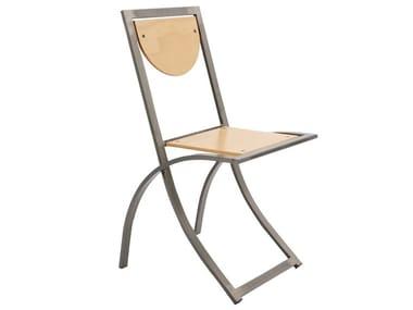 Stuhl aus Stahl und Holz SINUS | Stuhl aus Stahl und Holz