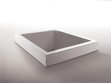 Built-in square methacrylate bathtub GRANDE QUADRA