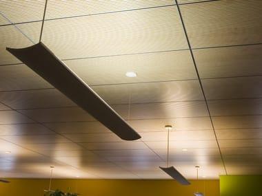 Panel para techos suspendidos fonoabsorbente radiante CLIMACUSTIC