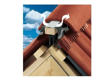 Ventilated ridge tile