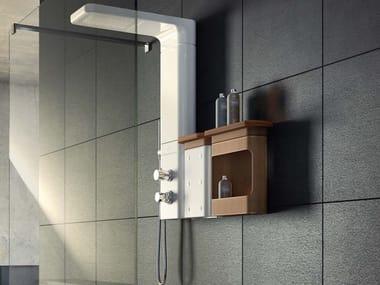 Colonne de douche multifonction en céramique BABELE | Colonne de douche mural