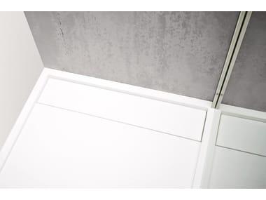 Piatto doccia rettangolare in Corian® R1   Piatto doccia