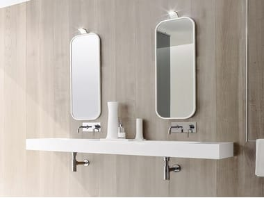 Wall-mounted Korakril™ washbasin UNICO | Double washbasin