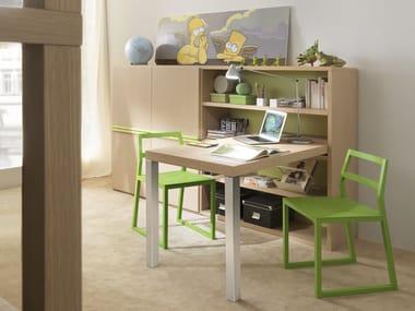 librera escritorio de madera librera