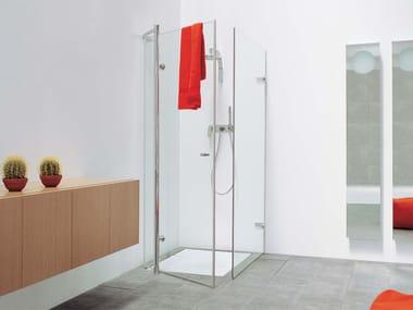 Crystal shower cabin BAMBOO | Shower cabin
