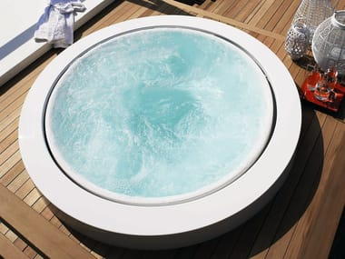 Overflow outdoor hot tub MINIPOOL | Built-in hot tub