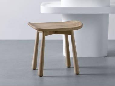 Taburete para baño de madera FONTE | Taburete para baño de olmo