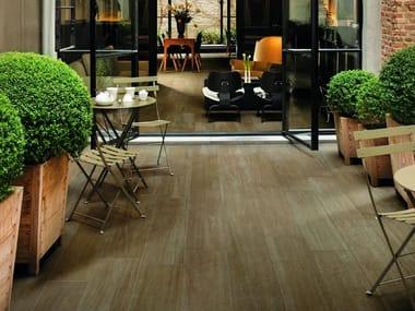 Porcelain stoneware outdoor floor tiles with wood effect NUANCES | Outdoor floor tiles