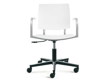 Task chair with 5-Spoke base with casters BIO-L   Task chair with armrests