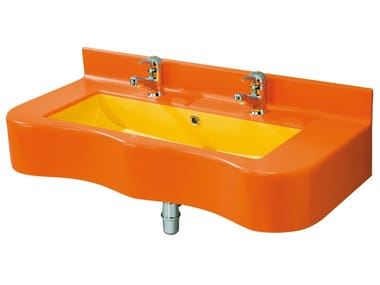 Console washbasin for children BAGNOCUCCIOLO®-BIRDO | Double washbasin