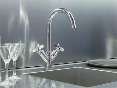 Countertop kitchen mixer tap with swivel spout RIVIERA   Kitchen mixer tap