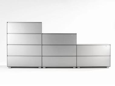 Modular office storage unit with lock PRIMO LATERALS