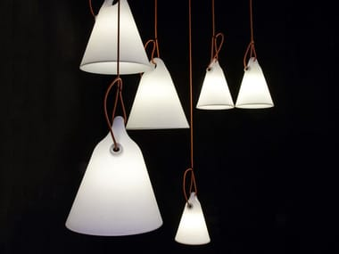 Fluorescent polyethylene pendant lamp TRILLY