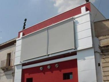 Store extérieur à enrouleur motorisé avec guide profil DALLAS