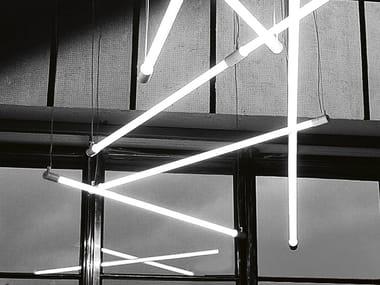 Lámpara colgante fluorescente SHANGHAI