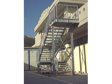 Metal fire escape staircase PROJECT