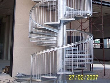 Metal fire escape staircase Steel Spiral staircase