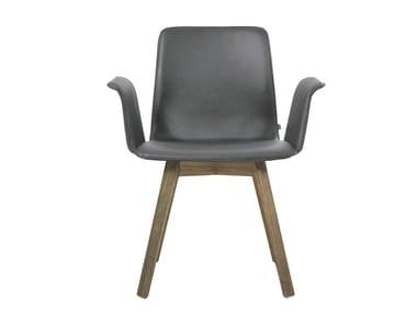Stuhl aus Leder mit Armlehnen MAVERICK | Stuhl mit Armlehnen