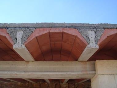 Elemento strutturale prefabbricato per copertura Pignatte decorative
