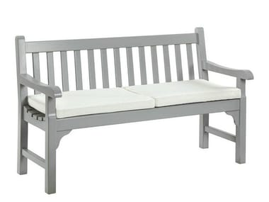 Teak garden bench with armrests NOTTING HILL | Garden bench