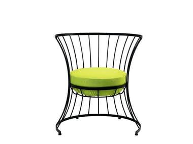 Iron garden armchair CLESSIDRA | Garden armchair