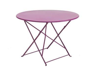 Folding Round garden table FLOWER | Round garden table